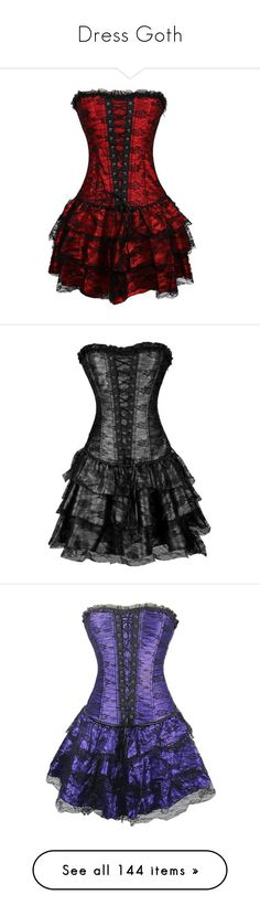 """""""Dress Goth"""" by pamela-gecko-winchester ❤ liked on Polyvore featuring dresses, corsets, wedding dresses, corset, short dresses, purple corset dress, purple mini dress, short purple dresses, purple bustier and lace up dress"""