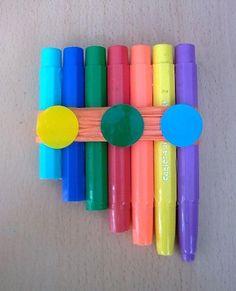 Flauta con Rotuladores Reciclados: http://www.manualidadesinfantiles.org/flauta-con-rotuladores-reciclados/