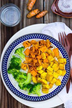 Anti-Inflamatory Rice Bowls with Turmeric Marinated Tofu