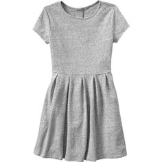 Gap Girls Marled Fit & Flare Dress Size L ($21) ❤ liked on Polyvore featuring dresses