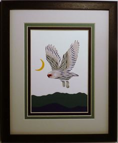 My 10x12 Birds are all double matted and framed in a black oak frame like this one.  The photos above are my designs in the 8x10 frame, which are moving up to 10x12.  The 8x10 frame is available on...