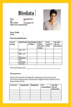 3 samples bio data form for job in word - All contracts in 1 place Resume Format Download, Sample Resume Format, Sample Resume Templates, Best Resume Template, Marriage Biodata Format, Bio Data For Marriage, Graduation Post, Word Free, Word Doc
