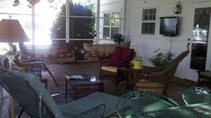Screened in porch makes every day seem like a lazy day.
