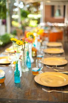 Southern Event Party Rentals   Farm Table, Chargers, Crossback Chairs, Rentals     #W101Nashville #SouthernEventsPartyRental #NashvilleWedding #Rentals