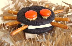 We are making oreo spiders for Braden's class tomorrow.