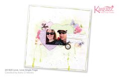This project will show you how to create a mixed media single page layout using the Sweet Pastels SB Paper collection.