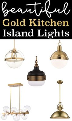 Brass is back - check out this round up of the best gold kitchen island lights. There are some beautiful brass pendant options that are guaranteed to warm up your kitchen. Kitchen Island Lighting, Kitchen Pendant Lighting, Kitchen Pendants, Modern Pendant Light, Kitchen Islands, Kitchen Fixtures, Gold Kitchen, Diy Kitchen, Kitchen Ideas