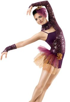 Asymmetrical Sequin Lace Leotard; Weissman Costume   Love this look with the one sleeve