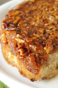 Upside Down Apple Honey Cake recipe (dairy-free with gluten-free and whole grain options)