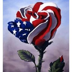 Eiflow Diamond Painting Kits Flag Rose Full Drill Round Rhinestone Embroidery Kits Paint by Diamonds Flower DIY Art Craft for Home Wall Decor I Love America, God Bless America, Memorial Day, American Flag Wallpaper, American Flag Painting, 4th Of July Images, Patriotic Pictures, Usa Tumblr, American Pride