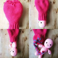 Crochet baby umbilical cord placenta and by WickedStitchesUK