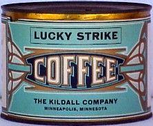 Lucky Strike Coffee #vintageadvertising #vintagepackaging