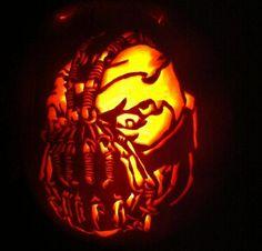 pumpkin carving batman   ... Culture Pumpkins For The Coolest Porches Around » pumpkin-batman-bane