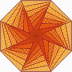 Ablaze - cross stitch pattern designed by Susan Saltzgiver. Category: Quilts.