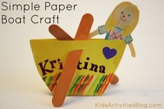 simple paper boat craft