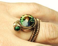 Bullet Casing cyberpunk wire ring  steampunk jewelry by keoops8,