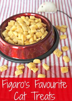 Figaro's Favourite Cat Treats. Homemade cat treats recipe.