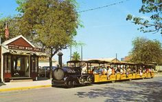 Key West Conch Train. I sold tickets to this attraction during 1986. At that time it was $7 for an adult ticket. Wonder what it's up to.