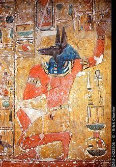 Stock Photo: Thèbes, West bank, King's Valley, Seti I tomb (KV47). Burial…