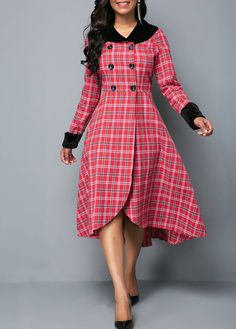 Cheap long sleeve Dresses online for sale Kurta Designs, Blouse Designs, African Fashion Dresses, African Dress, Fashion Outfits, Womens Fashion, Long Sleeve Midi Dress, Belted Dress, Dress Ootd