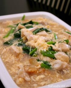 To Food with Love: Wat Tan Hor (Flat Rice Noodles in Egg Gravy)