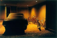 William Eggleston, Untitled (Car and Bicycles in Garage), Memphis, TN, 1970