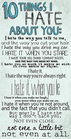 Fav!! 10 Things I Hate About You. One of the best movies of all time!