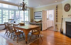 Dining Room | Once home to publishing magnate Bennett Cerf (Random House) - The Columns | 1927 Colonial Revival | Mount Kisco, NY