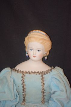 Vintage Emma Clear Parian Doll China Head Fancy Hair Style Hair Piece from oldeclectics on Ruby Lane