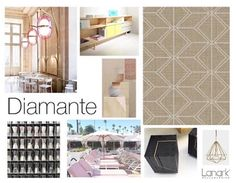 DIAMANTE - LANARK @lanarkwallcovering  A modern latticework for a new generation. Light and airy Diamante is a geometric diamond design that is both spatial and structural. Vivid in form and clear in shape Diamante is a structured calculation and a fresh design choice. Posted by On Trend Today Kathy Wisniski