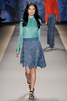 Vivienne Tam - beautiful lacy skirt with butterflies