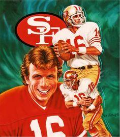 joe montana #16 San Francisco aka Joe Cool...I wish I could repin this and like like like :)