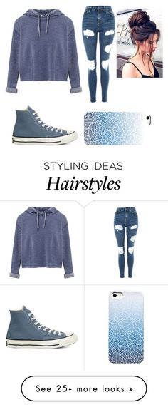 """""""OOTD"""" by gretchenlover on Polyvore featuring Miss Selfridge, Topshop and Converse"""