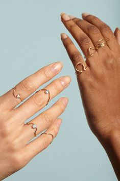 diamond and gold rings from WWAKE. Minimal, stackable and simply gorgeous