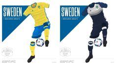 Camisa da Seleção da Suécia Eurocopa 2016-2017 Adidas
