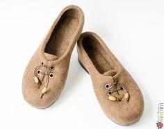 """Туфли женские ручной работы из войлока """"Туфельки для Грэтхен"""" – купить в интернет-магазине на Ярмарке Мастеров с доставкой Felt Boots, Moccasins, Slippers, Flats, Shoes, Fashion, Penny Loafers, Loafers & Slip Ons, Moda"""