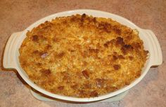 veg all casserole- sounds a little weird but it's really good- had it a potluck. Comfort food.....