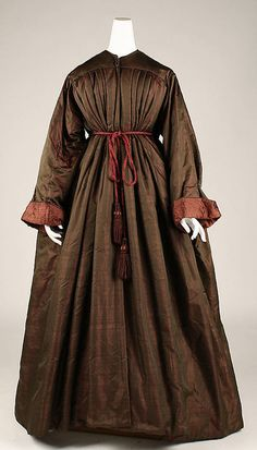Dressing Gown  1850s  The Metropolitan Museum of Art