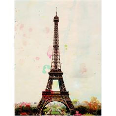 Aquarelle - Paris Eiffel Tower Photography Art Print ($28) ❤ liked on Polyvore featuring home, home decor, wall art, backgrounds, paris, photos, pictures, photography, paris picture and paris wall art