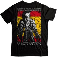 El guerrero: Yo soy la tormenta! - Esto es España Camisetas y Sudaderas Man, Mens Tops, Shirts, Clothes, Men Shirt, Paracord, Real Madrid, Wolf, Fashion