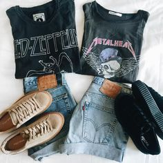 Grunge Outfits, Edgy Outfits, Cute Outfits, Fashion Outfits, Womens Fashion, Punk Fashion, Lolita Fashion, Band Shirt Outfits, Rock Outfits