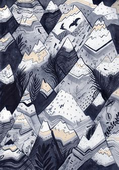 MOUNTAINS  // Signed A4 Print