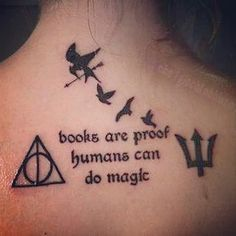 Harry Potter, Divergent, The Hunger Games, and Percy Jackson. I personally wouldn't do the ones for THG AND Percy Jackson, but I love the idea. Future Tattoos, Love Tattoos, Beautiful Tattoos, Awesome Tattoos, Tatoos, Geek Tattoos, Wrist Tattoos, Cat Tattoos, Bodysuit Tattoos