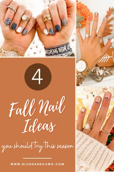 Hello beautiful! Who here loves fall as much as I do? I also love a fun fall manicure and I do them all at home! Let me show you my 4 fall nail ideas that you really need to try at home! Come and see my favorite all time mani! #maniathome #fallnaildesigns #fallinspo