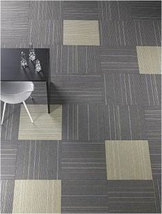 carpet tiles - if done so not to look like a checker board game
