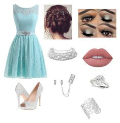 """""""Party"""" by mhussain6 on Polyvore featuring Lauren Lorraine, Lime Crime and Kate Spade"""