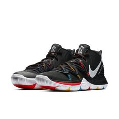 Nike Kyrie 5 Black Size US Mens Athletic Shoes Casual Sneakers Basketball Kyrie 5, Nike Kyrie, Basketball Shorts Girls, Nike Basketball, Casual Sneakers, Casual Shoes, Sneakers Nike, Nike Air Huarache, Arsenal