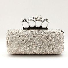 XIU Moda Charme Lace Crânio Evening Bag (Cor da tela) – BRL R$ 51,27