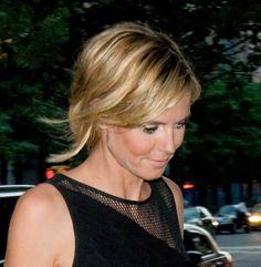 Heidi Klums casual hairstyle