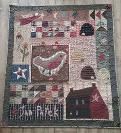 Hearth And Home Quilt by Jan Patek, appliqued and quilted by Susanne Steil